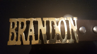 personalize name belt buckle