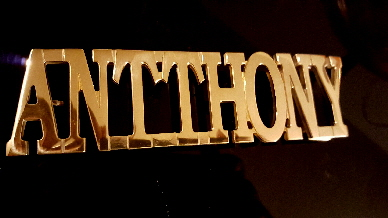 brass custom name belt buckle