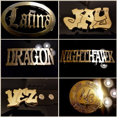hip hop name belt buckle