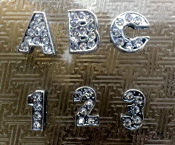 8mm rhinestone slide letters
