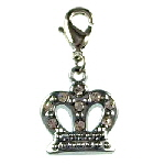 crown clip on charm