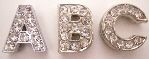10mm slide letters rhinestone