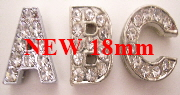 18mm slide letters rhinestone